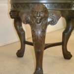 Round-60-Glass-Top-Table-with-Lions-Head-Paw-Feet-and-Greek-Key-Carving-192510896605-6