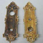 VICTORIAN-YALE-HEAVY-CAST-BRASS-DOOR-PLATES-KNOB-LOCK-SET-192017727035-3