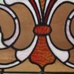Victorian-Stained-Glass-Fleur-De-Lis-Design-Circa-1910-Greens-Lilac-and-Rust-265015180945-3
