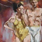Adam-Grant-Original-Oil-Painting-Circus-Couple-Circa-1970-264783119246-2