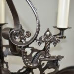 Antique-Five-Arm-Gothic-Revival-Chandelier-in-Wrought-Iron-Pewter-Finish-193730572826-6