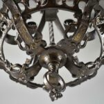 Antique-Five-Arm-Gothic-Revival-Chandelier-in-Wrought-Iron-Pewter-Finish-193730572826-9