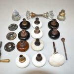 Antique-Misc-Lot-Crystal-Porcelain-Pottery-Door-Knobs-Brass-Handle-192612890466-2