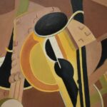 E-Canfield-Ruthley-Oil-Painting-Musical-Instruments-Abstract-264798407876-2