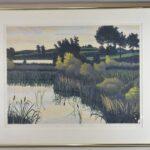 Gordon-Mortensen-Signed-Limited-23130-Woodcut-Reduction-October-Sunset-1981-192419728296