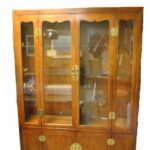 Henredon-Asian-Style-Cherry-Campaign-Lighted-China-Display-Cabinet-264504182286