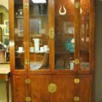 Henredon-Asian-Style-Cherry-Campaign-Lighted-China-Display-Cabinet-264504182286-2