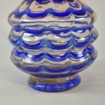 Kralik-Czech-Art-Glass-Vase-Draped-Blue-Pattern-193450767426