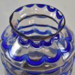 Kralik-Czech-Art-Glass-Vase-Draped-Blue-Pattern-193450767426-2