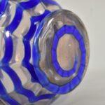 Kralik-Czech-Art-Glass-Vase-Draped-Blue-Pattern-193450767426-3