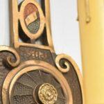 Pair-Art-Deco-Heavy-Cast-Single-Socket-Wall-Sconces-Hand-Painted-Details-264120287566-5