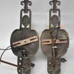 Pair-Art-Deco-Heavy-Cast-Single-Socket-Wall-Sconces-Hand-Painted-Details-264120287566-8