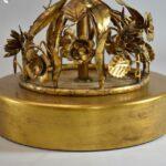 Pair-Mid-Century-Modern-Marbro-Italian-Tole-Gilt-Crystal-Floral-Vine-Lamps-264908986706-6