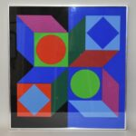 Victor-Vasarely-Serigraph-Circa-1970-Exhibition-Pittsburgh-Museum-264089398066