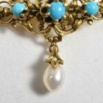 Victorian-Style-14-k-Yellow-Gold-Turquoise-Pin-Brooch-265063783786-2