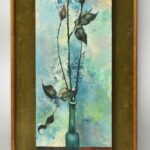 Vintage-Mid-Century-Oil-Painting-Roses-by-French-Artist-Pierre-Henry-265197284896