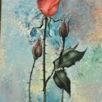 Vintage-Mid-Century-Oil-Painting-Roses-by-French-Artist-Pierre-Henry-265197284896-2