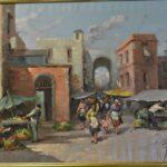 1950s-Italian-Oil-Painting-Market-Street-Scene-42×36-264761766387-2