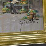 1950s-Italian-Oil-Painting-Market-Street-Scene-42×36-264761766387-5