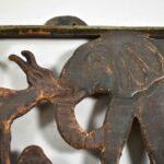 African-Safari-Iron-Wall-Panel-Elephant-Giraffe-Lion-Monkey-194060251897-5