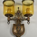 Antique-Brass-Spanish-Style-Wall-Sconce-Circa-1920s-USA-194035767527
