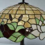 Antique-Leaded-Glass-Lamp-Cattails-Water-Lily-18-Miller-Lamp-Company-193725105217-4