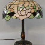 Antique-Leaded-Glass-Lamp-Cattails-Water-Lily-18-Miller-Lamp-Company-193725105217-8