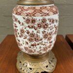 Antique-Porcelain-Brass-English-Cottage-Style-Table-Lamp-265201356787-2