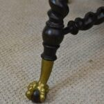 Antique-Solid-Mahogany-Library-Table-Rope-Turned-Legs-Lion-Head-Details-264931673797-5