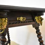 Antique-Solid-Mahogany-Library-Table-Rope-Turned-Legs-Lion-Head-Details-264931673797-6