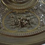 Antique-Victorian-Compote-Etched-Cut-Gass-Cast-Bronze-Lion-Heads-Angels-1880s-263654167477-10