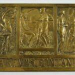 BRASS-RENE-LALIQUE-PARFUMS-FONTANIS-SIGN-PLAQUE-PARIS-EXPO-193726481927