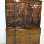Baker-Furniture-Breakfront-Burled-Mahogany-Banded-Inlay-Circa-1940s-193367584177