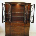 Baker-Furniture-Breakfront-Burled-Mahogany-Banded-Inlay-Circa-1940s-193367584177-3