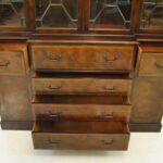 Baker-Furniture-Breakfront-Burled-Mahogany-Banded-Inlay-Circa-1940s-193367584177-5