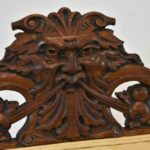 Carved-Oak-Side-Chair-Medusa-Face-Claw-Feet-Paw-Arms-264740769697-6