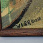 City-Scene-Cubism-Original-Painting-Circa-1950s-193550904107-4