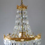 French-Basket-Form-Crystal-Chandelier-with-Brass-Frame-191638076367
