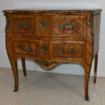 Italian-Style-Marble-Top-Commode-Inlaid-Wood-Brass-Mounts-Hardware-193370722847-2