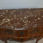 Italian-Style-Marble-Top-Commode-Inlaid-Wood-Brass-Mounts-Hardware-193370722847-3