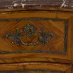 Italian-Style-Marble-Top-Commode-Inlaid-Wood-Brass-Mounts-Hardware-193370722847-5