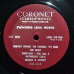JAZZ-LP-SWINGING-LENA-HORNE-CORONET-RECORDS-CXS165-262773700617-5