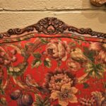 Pair-French-Style-Chairs-By-Sherill-Furniture-Red-Tapestry-Birds-PlumsFlowers-193539603937-2
