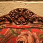 Pair-French-Style-Chairs-By-Sherill-Furniture-Red-Tapestry-Birds-PlumsFlowers-193539603937-3