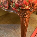 Pair-French-Style-Chairs-By-Sherill-Furniture-Red-Tapestry-Birds-PlumsFlowers-193539603937-4