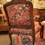 Pair-French-Style-Chairs-By-Sherill-Furniture-Red-Tapestry-Birds-PlumsFlowers-193539603937-5