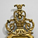 Pair-Heavy-Ornate-Brass-French-Style-Five-Arm-Wall-Sconces-Cut-Crystal-Drops-264244746687-7