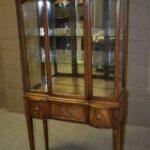 Vintage-Hepplewhite-Walnut-Curio-Cabinet-Inlay-Wood-Lighted-Interior-265166894527