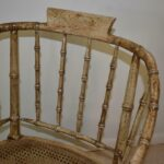 Vintage-Pair-Bamboo-Form-Side-Chairs-Distressed-Finish-Cane-Seat-265235822187-5