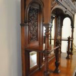 Antique-Renaissance-Revival-Walnut-Buffet-Carved-Details-Beveled-Glass-1890s-263359464358-10